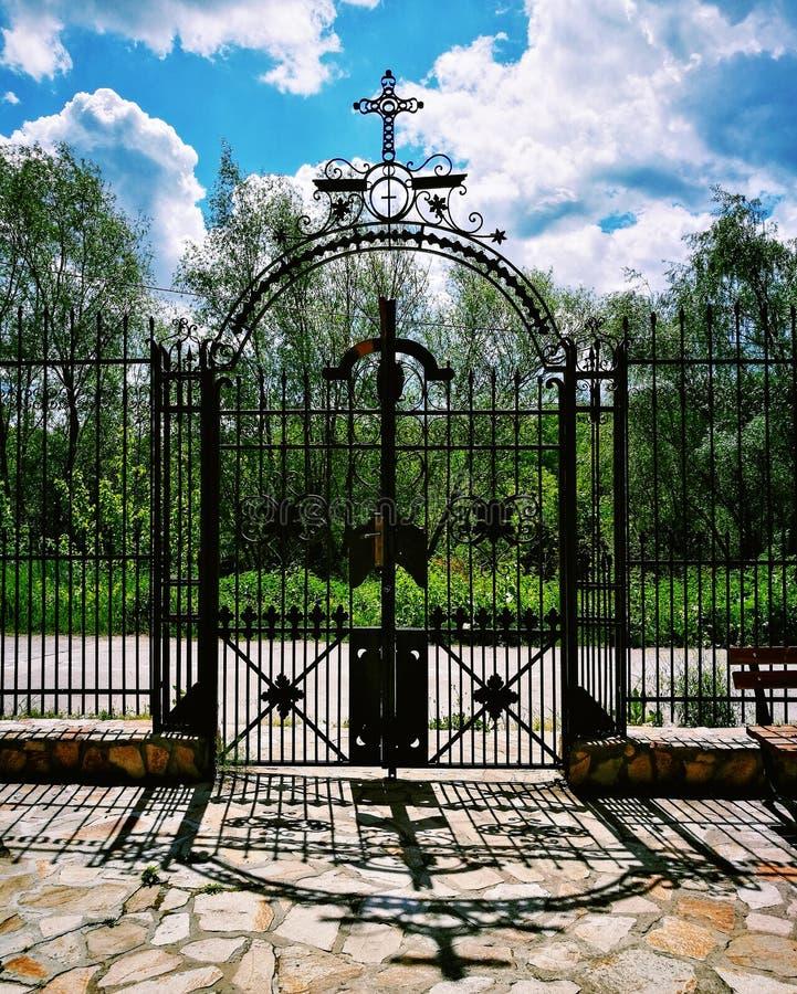 Heiliges Tor - Basarbovo-Kloster stockbild