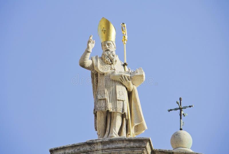 Heiliges Vlaho-Statue stockfotografie