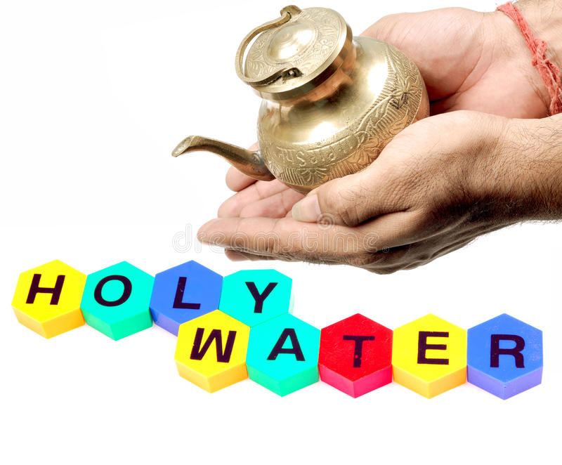 Heiliges Wasser stockbild