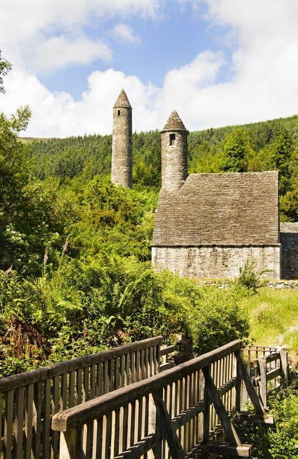 Heiligeskevin-Kirche - Symbol von Irland lizenzfreies stockbild