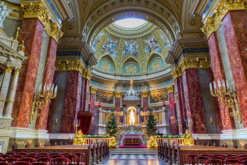 Heiligesstephen-Basilikainnenraum, Budapest, Ungarn stockfoto