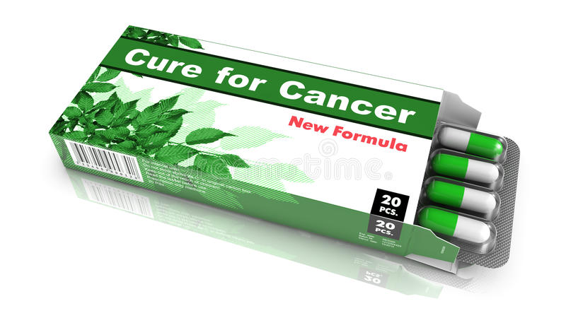 Heilung für Krebs - Satz Pillen stock abbildung