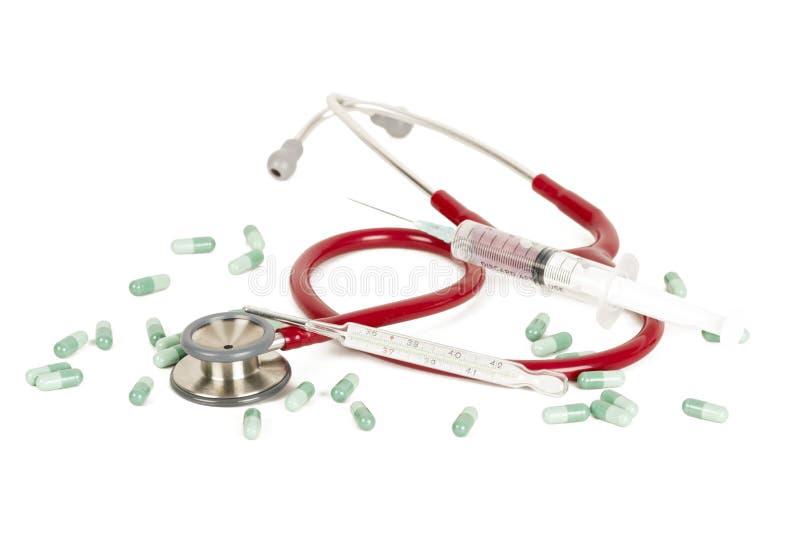 Heilungen für Grippe lizenzfreies stockbild