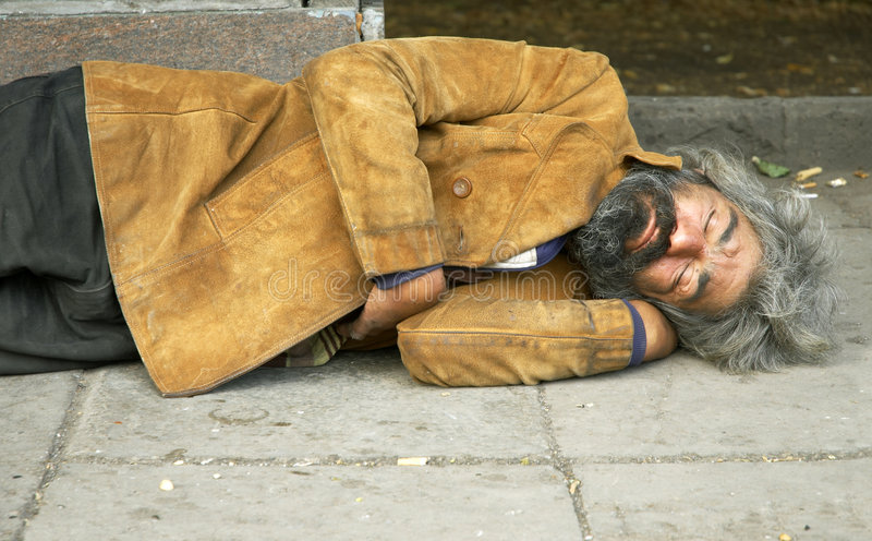 Heimatlose Person lizenzfreie stockfotos