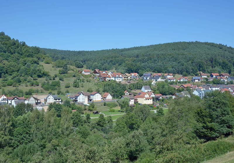 Heimbuchenthal, Spessart, Bavaria Niemcy fotografia royalty free