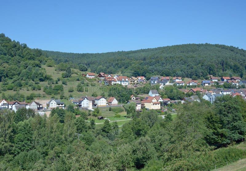 Heimbuchenthal, Spessart, Baviera Germania fotografia stock libera da diritti