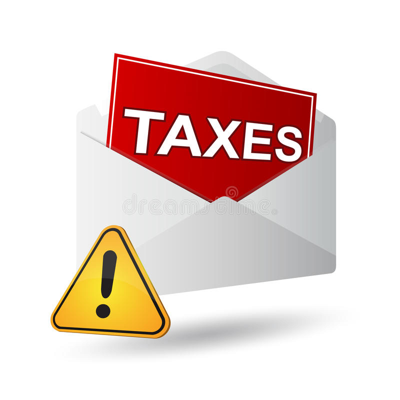 Heimelijke belastingen vector illustratie