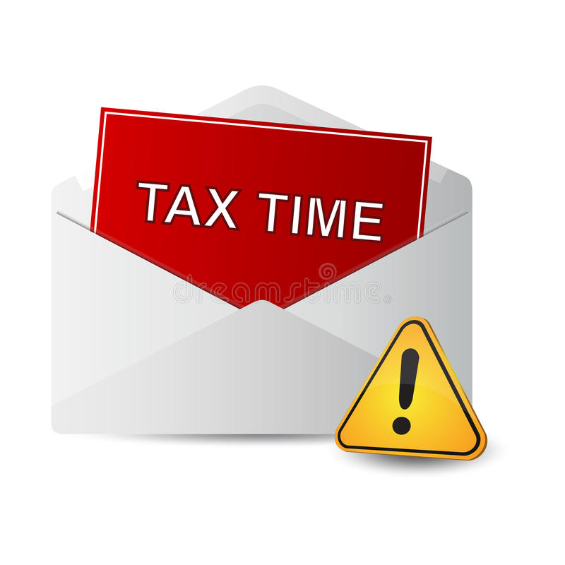 Heimelijke belastingen royalty-vrije illustratie