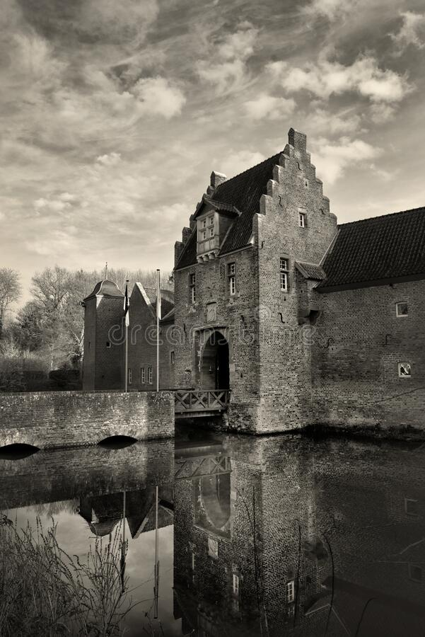 Heimerzheim Castle in Germany in vertical stock photo