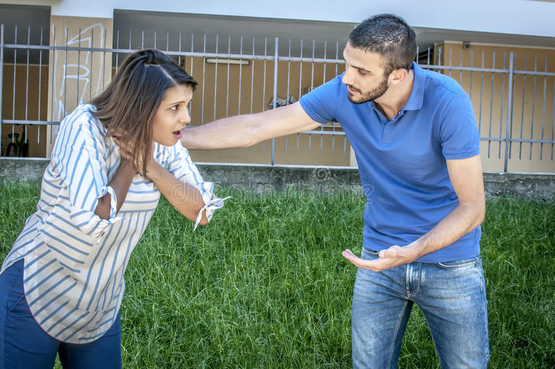 Couple Demonstrating First Aid Procedure For Stock Image