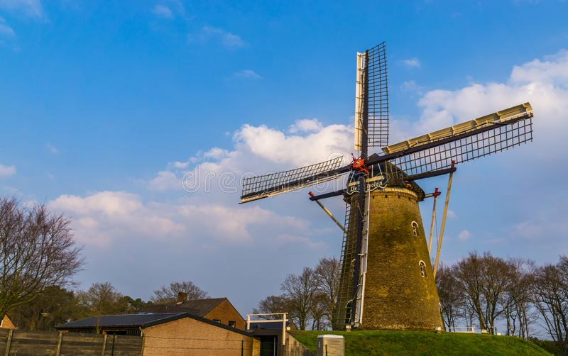 Heimolen, the windmill of Rucphen, North Brabant, the Netherlands, classical dutch architecture. The heimolen, the windmill of Rucphen, North Brabant, the stock photography