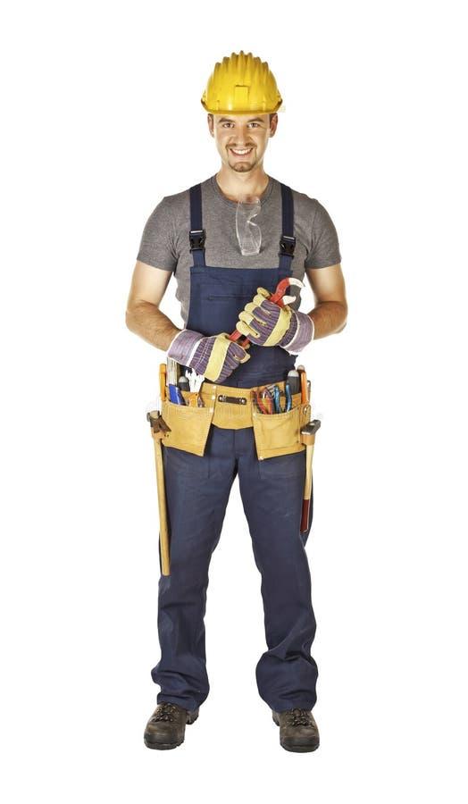 Heimwerker mit toolbelt lizenzfreie stockfotos