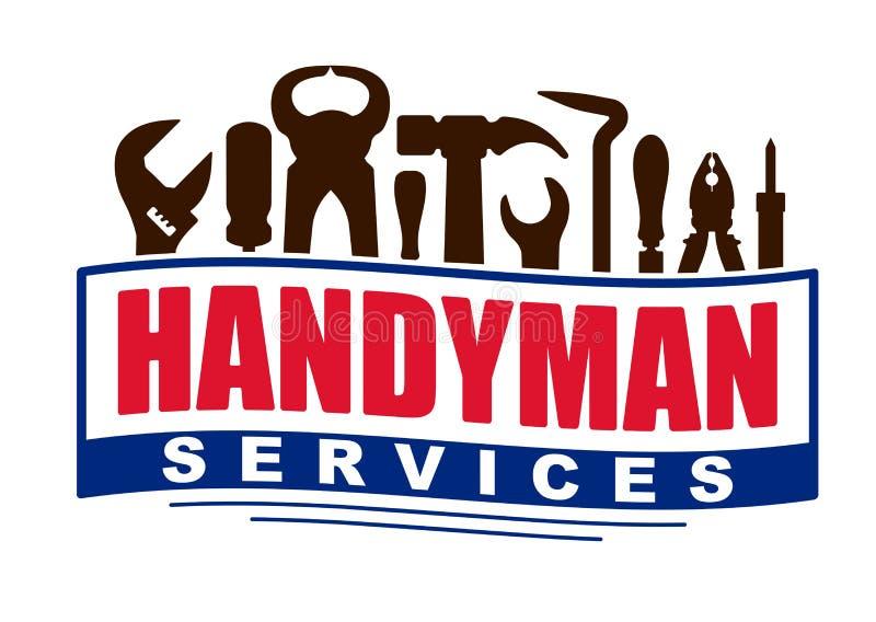 Heimwerkerservice-Vektordesign für Ihr Logo oder Emblem in Form lizenzfreie abbildung