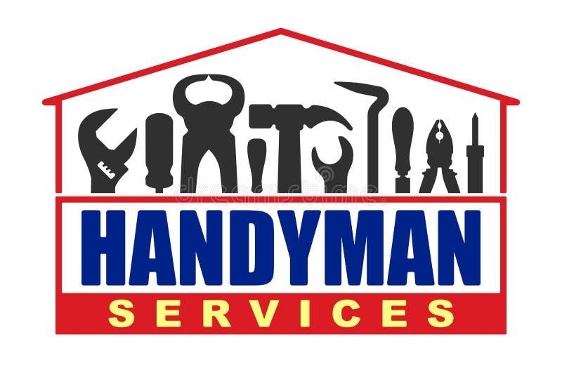 Heimwerkerservice-Vektordesign für Ihr Logo oder Emblem in Form stock abbildung
