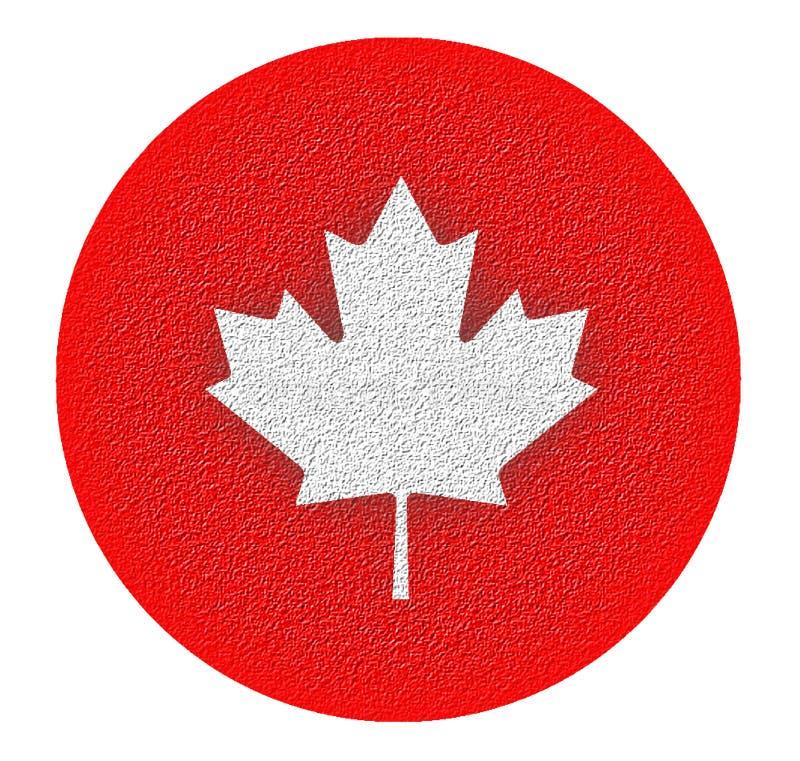 Hein - feuille d'érable stylisée canadienne photo libre de droits