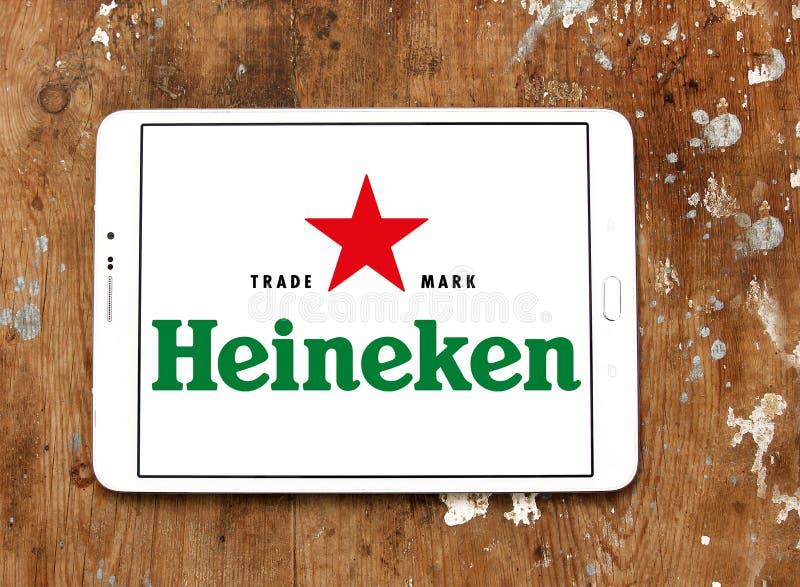 Heineken öllogo royaltyfri bild