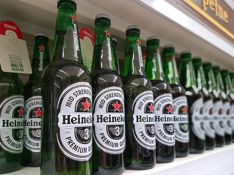 Heineken Beer On Store Shelves Editorial Stock Image - Image of ...