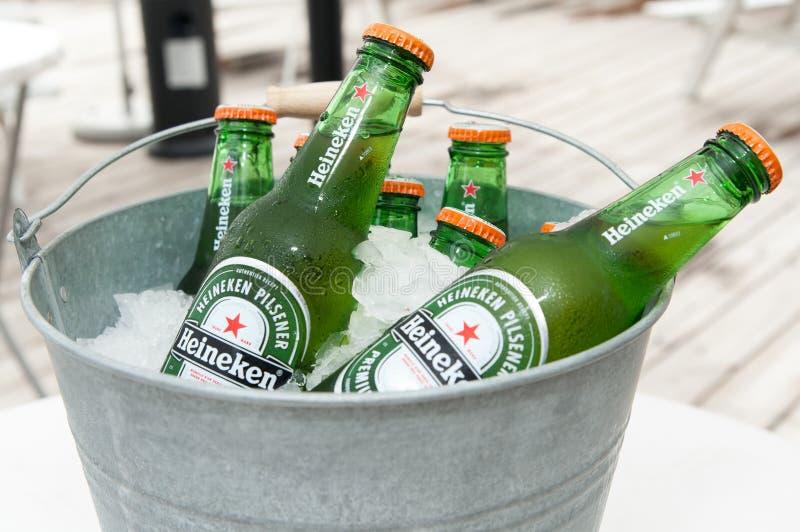 Heineken-bier royalty-vrije stock afbeelding