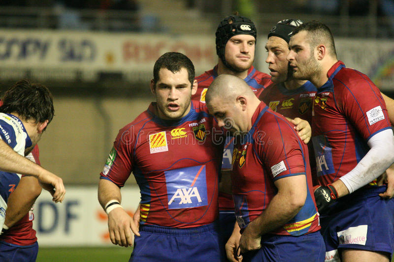 Download Heineken Cup Rugby Match USAP Vs Tr Editorial Stock Image - Image: 12668484