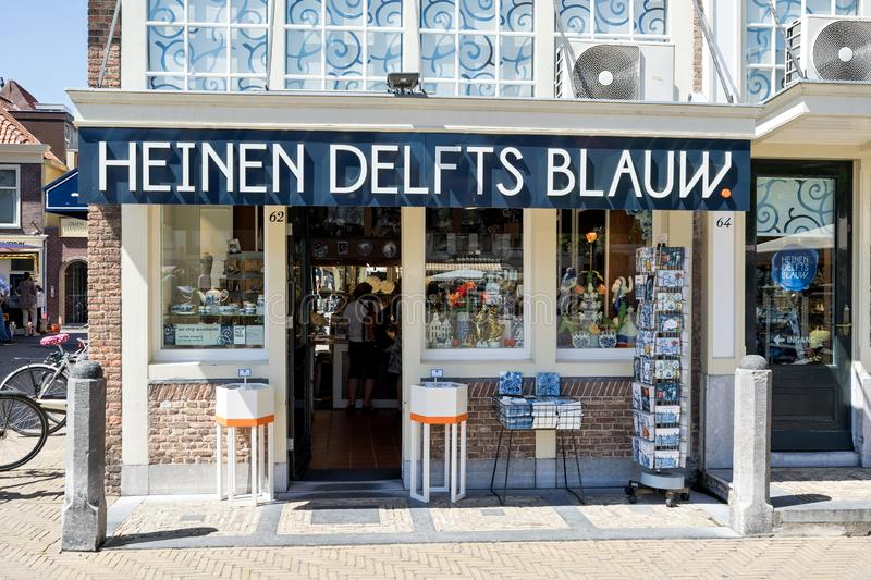 Heinen Delfts Blauw store in Delft, The Netherlands royalty free stock photography