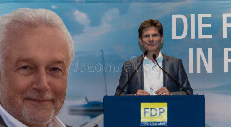 Heiner Garg博士,前社会事务大臣和主席副总理石勒苏益格-荷尔斯泰因州和FDP的状态 库存照片
