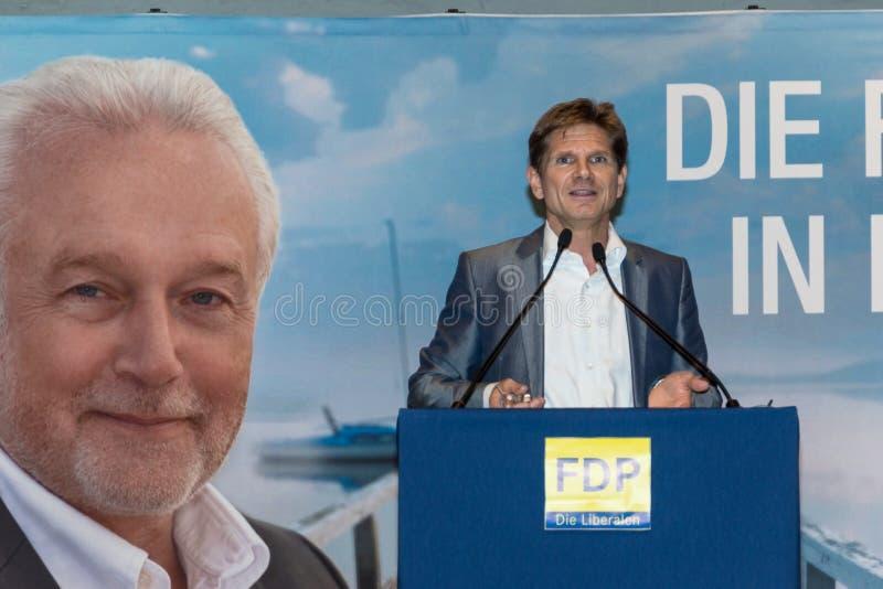 Heiner Garg博士,前社会事务大臣和主席副总理石勒苏益格-荷尔斯泰因州和FDP的状态 库存图片
