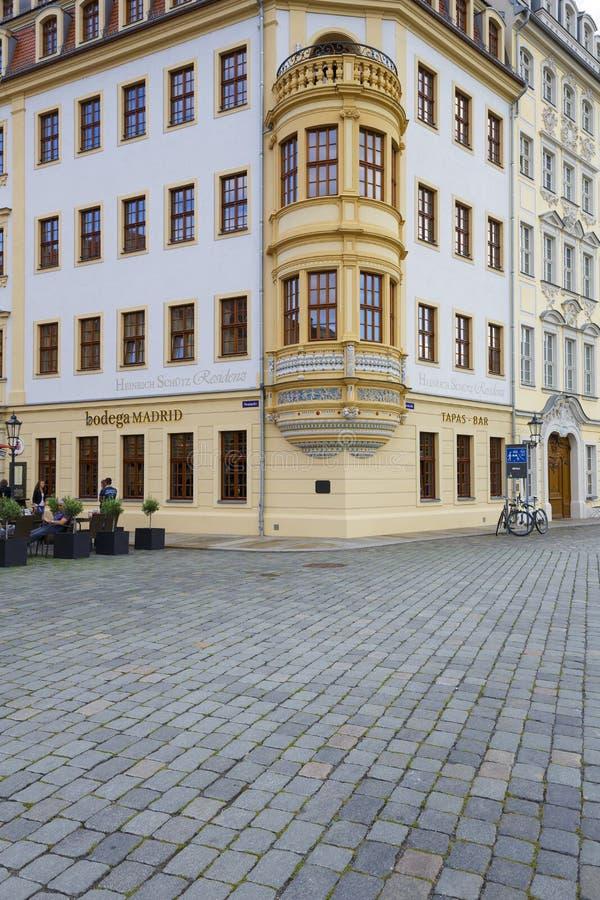 Heinrich Schuetz Residenz-detail royalty-vrije stock afbeelding