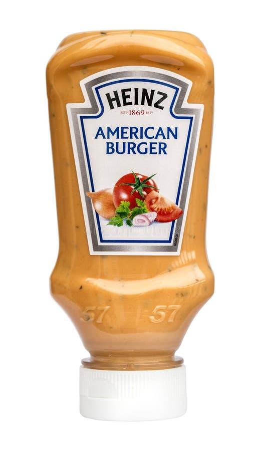 Heinz American Burger fotos de stock royalty free