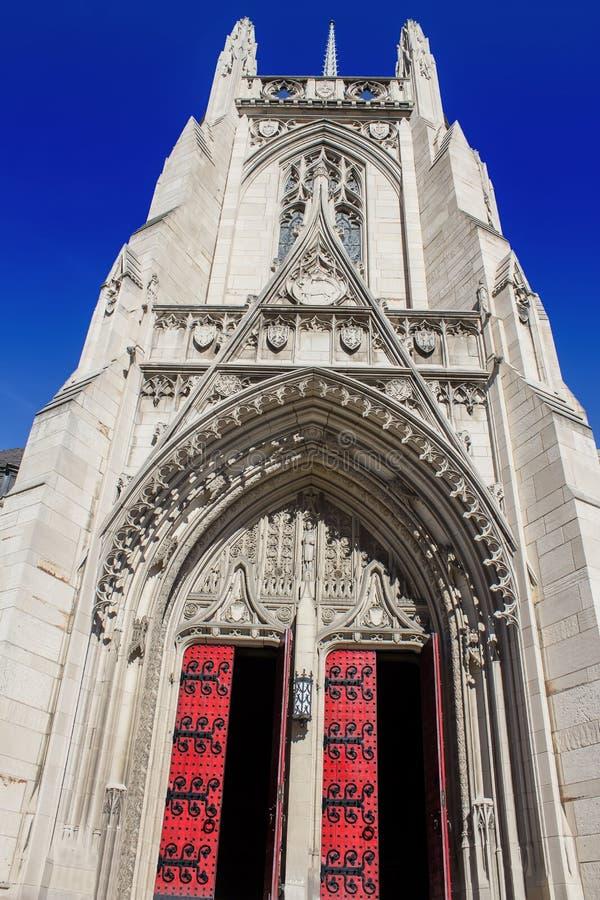 Heinz Chapel Closed Doors royalty-vrije stock afbeeldingen