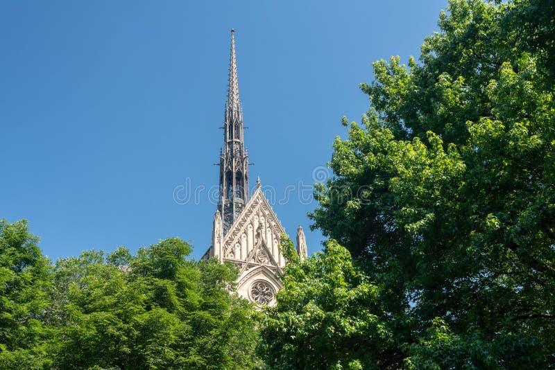 Heinz Chapel-de bouw bij de Universiteit van Pittsburgh stock afbeeldingen
