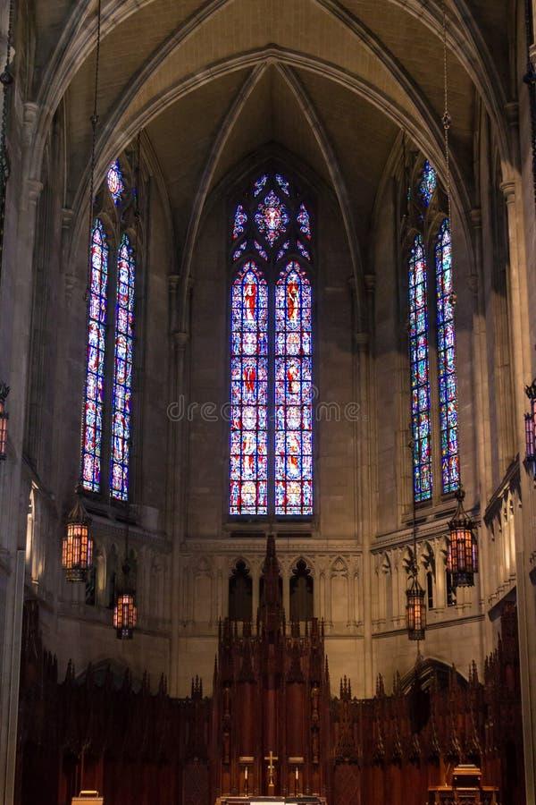 Heinz Chapel Stained Glass stock afbeeldingen