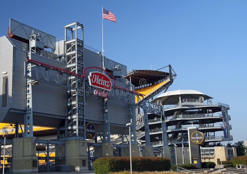 Heinz coloca o estádio de futebol de Pittsburgh foto de stock royalty free