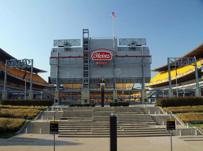 Heinz Field Home des équipes de football de Pittsburgh photographie stock libre de droits