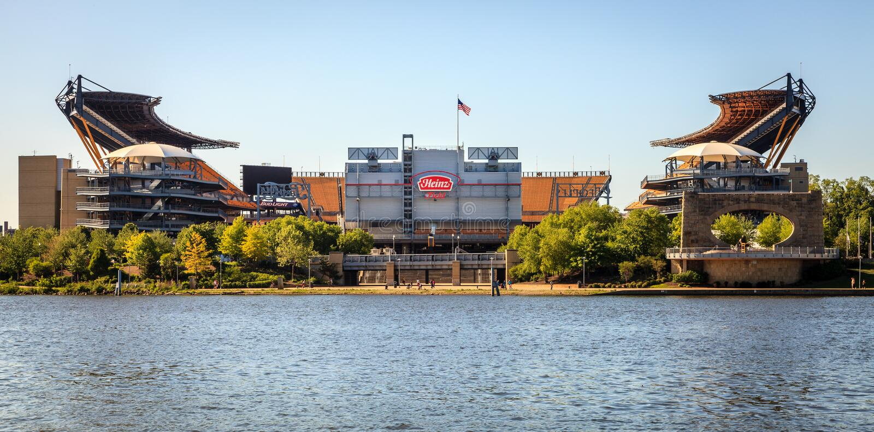 Heinz Field a Pittsburgh fotografia stock libera da diritti