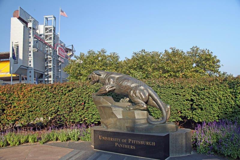 Heinz Field Pittsburgh och Pitt Panthers arkivbilder