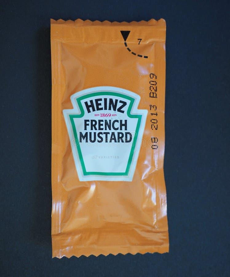 Heinz French Mustard imagens de stock
