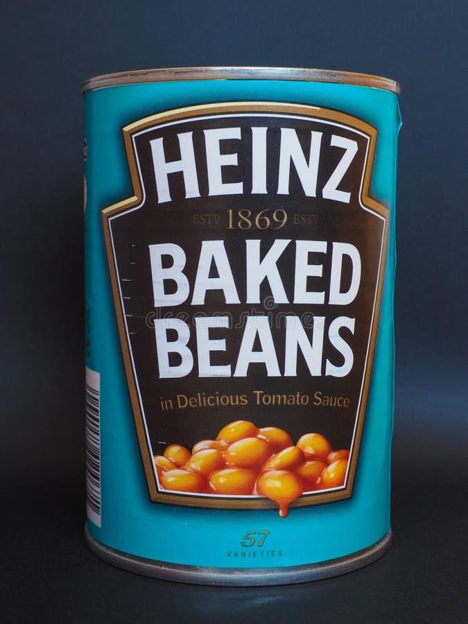 Heinz ha appoggiato i fagioli fotografia stock