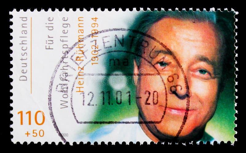 Heinz Ruhmann, bem-estar: Serie internacional dos atores do filme, cerca de 2000 imagem de stock royalty free