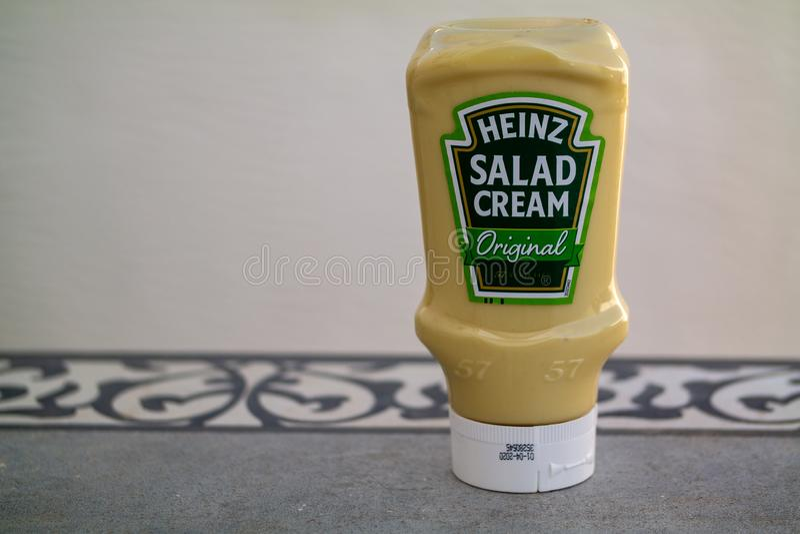 Heinz Salad Cream fotografia stock libera da diritti
