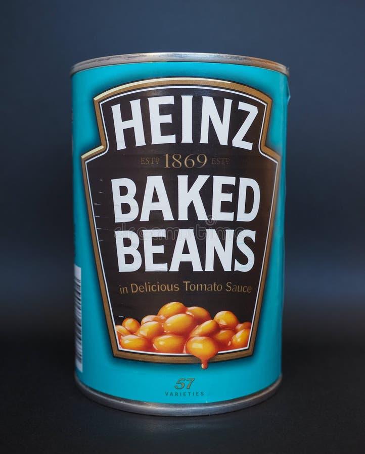 Heinz suportou feijões fotos de stock