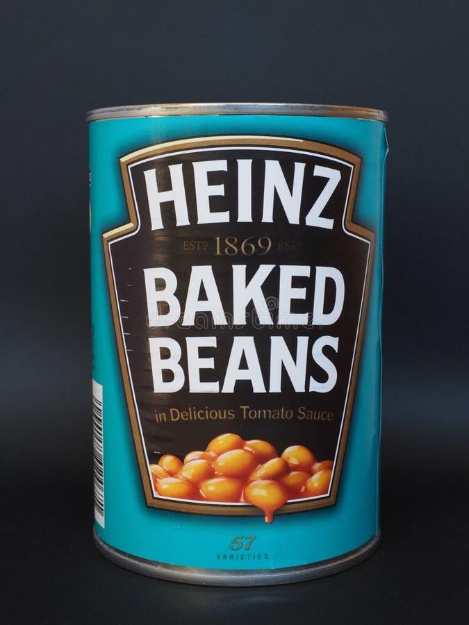 Heinz suportou feijões foto de stock royalty free