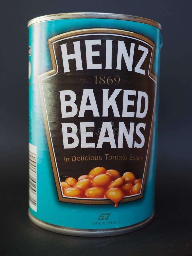 Heinz suportou feijões imagens de stock