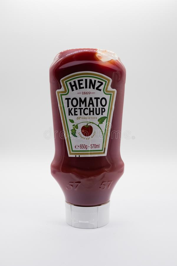 Heinz Tomato Ketchup in Plastic Bottle that is Recyclable royalty free stock photo