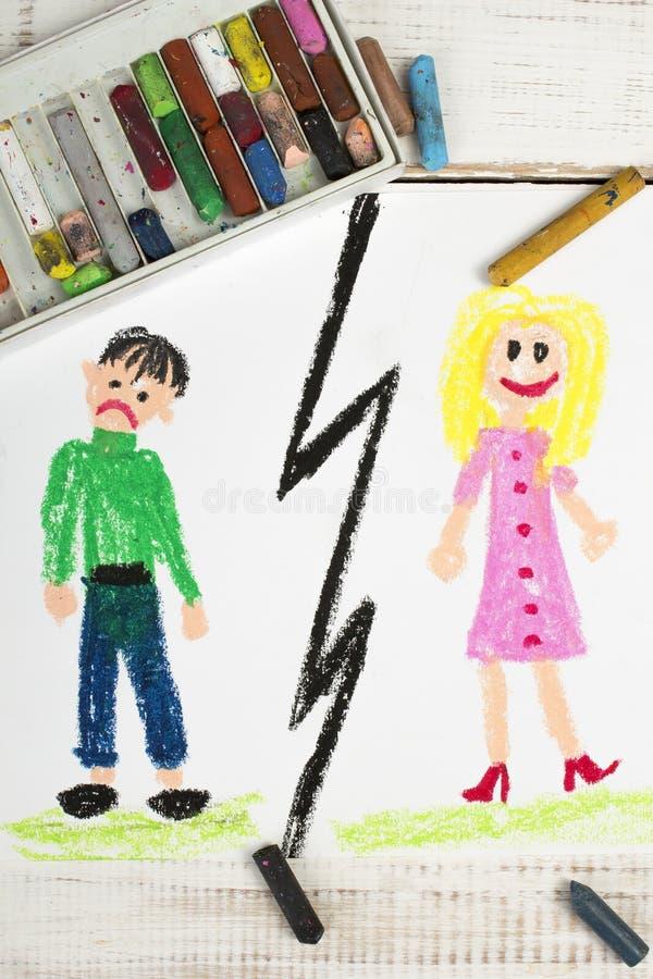 Heirat brechen oben oder scheiden sich vektor abbildung