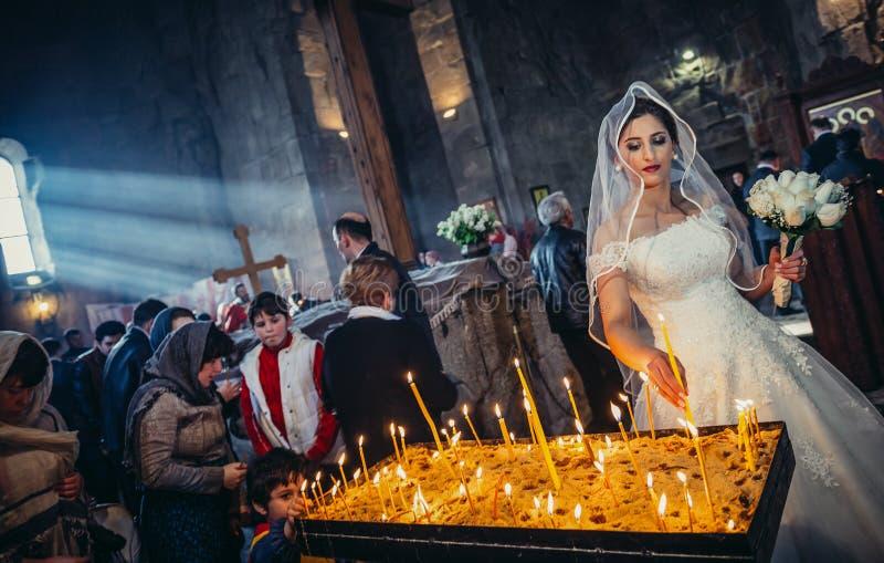 Heirat in Georgia stockfoto