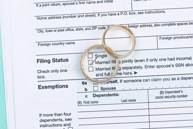 Heirat-Steuer stockfoto