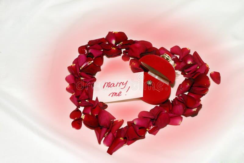 Heiraten Sie mich! - Verpflichtung stockfotografie