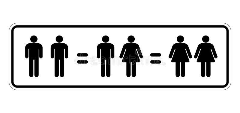 Heiratgleichheit stock abbildung