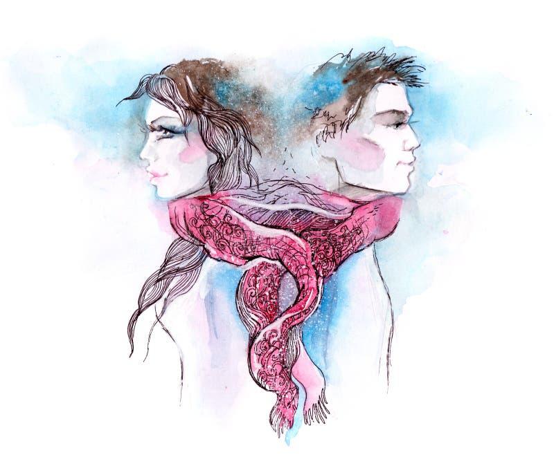 Heirats- Knoten stock abbildung