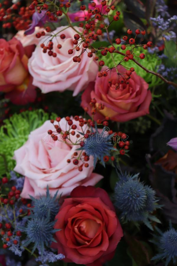 Heiratsblumen in den Herbstfarben stockbilder